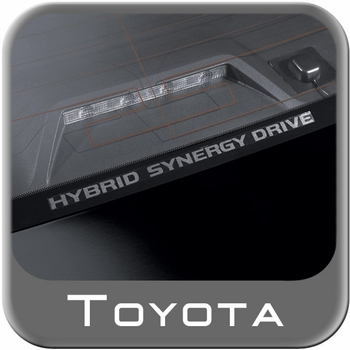 """Toyota Hybrid Window Sticker """"Toyota Synergy Drive"""" White on Clear Sold Individually Genuine Toyota #PT747-00072"""