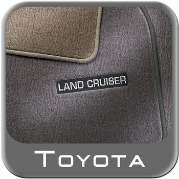 Toyota Land Cruiser Carpeted Floor Mats 1998-2002 Gray 3-Piece Set Genuine Toyota #PT206-60012-01