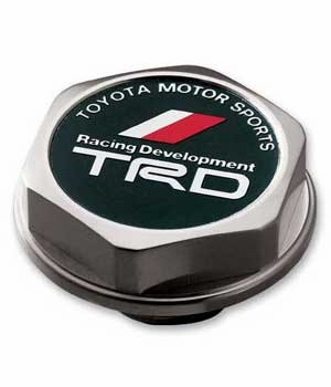 Toyota Oil Cap Billet Aluminum w/TRD Chevron Logo Threaded Screw-In Style Genuine Toyota #PTR04-12108-02