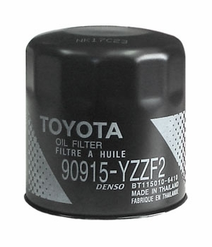 Toyota Oil Filter Spin-on Style Direct Factory Replacement Genuine Toyota #90915-YZZF2