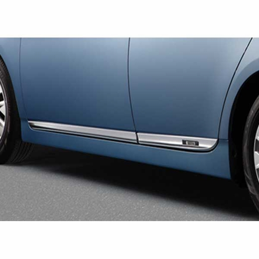 Toyota Prius Lower Door Moldings 2014-2015 Plug-in Chrome plated 4-Piece Set Genuine Toyota #PT29A-47140