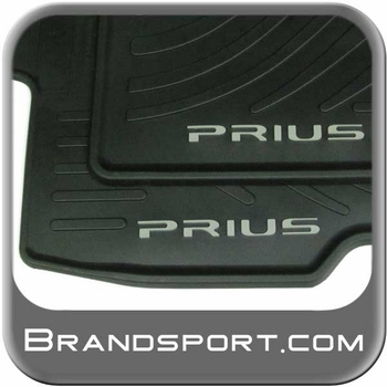 Toyota Prius Rubber Floor Mats 2010-2011 All-Weather Black 4-Piece Set Genuine Toyota #PT908-47110-20