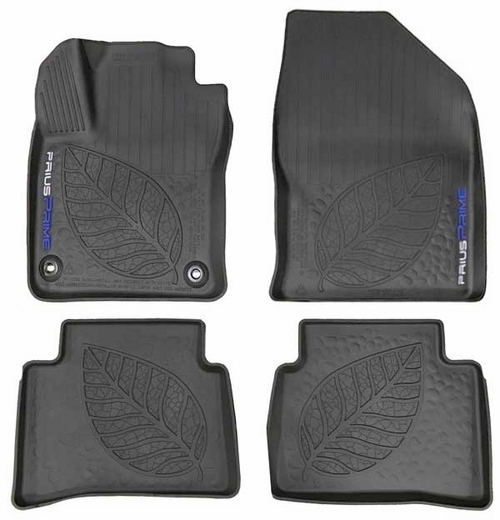 Toyota Prius Rubber Floor Mats 2017-2018 Prime All-Weather Floor Liners Black 4-Piece Set Genuine Toyota #PT908-47171-02