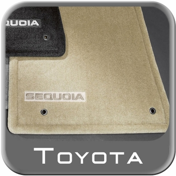 Toyota Sequoia Carpeted Floor Mats 2008-2011 Sand Biege 4-Piece Set Genuine Toyota #PT926-0C084-41