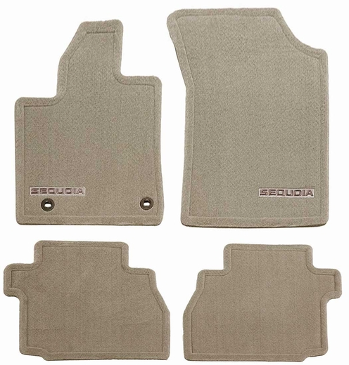 Toyota Sequoia Carpeted Floor Mats 2012-2017 Sand Beige 4-Piece Set Genuine Toyota #PT926-0C120-41