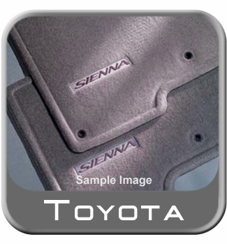 Toyota Sienna Carpeted Floor Mats 2002-2003 Gray Symphony Package Edition 5-Piece Set Genuine Toyota #PT208-08021-01