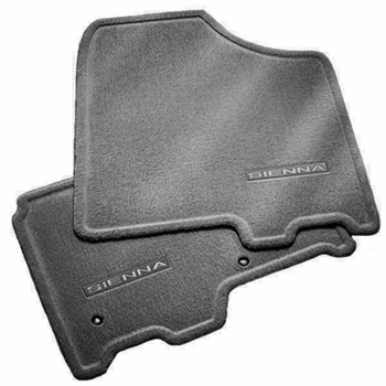 Toyota Sienna Carpeted Floor Mats 2015-2019 Gray 8 passenger models 6-Piece Set Genuine Toyota #PT206-08179-11