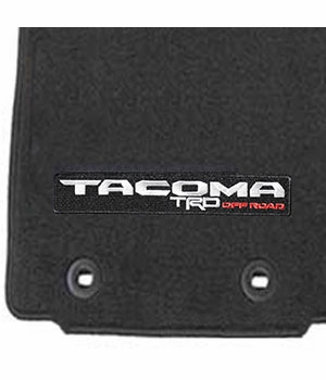 Toyota Tacoma Carpeted Floor Mats 2016-2017 Black w/ TRD Off Road Logo 4-Piece Set Genuine Toyota #PT206-35175-02
