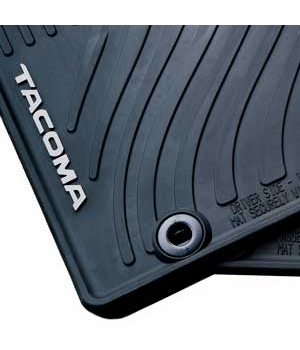 Toyota Tacoma Rubber Floor Mats 2015 All-Weather Black 4-Piece Set Genuine Toyota #PT908-35150-20