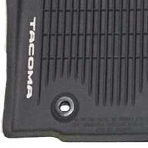 Toyota Tacoma Rubber Floor Mats 2016-2019 B-Max All-Weather Floor Liners Black Front pair Genuine Toyota #PT908-35170-20