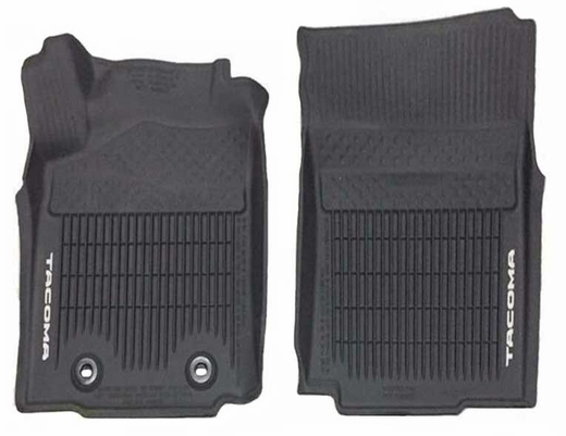 Toyota Tacoma Rubber Floor Mats 2016 All-Weather Floor Liners Black Front pair Genuine Toyota #PT908-35162-20