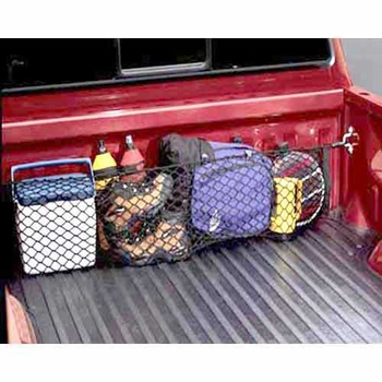 Toyota Tacoma Truck Cargo Net 2001-2004 Envelope / Pocket Style Exterior, Bed Mount Black Sold Individually Genuine Toyota #PT347-35011