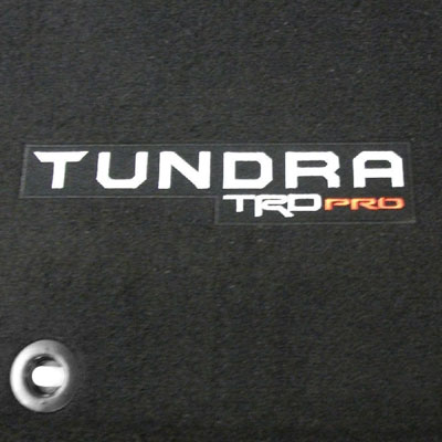 Toyota Tundra Carpeted Floor Mats 2015-2019 TRD PRO Edition, Black 3-Piece Set Genuine Toyota #PT206-34150-20