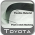Toyota Tundra Door Sill Protectors 2004-2006 Black ABS Plastic w/ Tundra Logo, Double Cab 4 Piece Set Genuine Toyota #PT747-34040