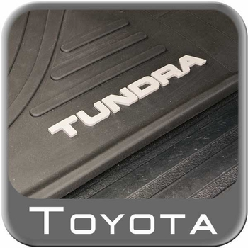 Toyota Tundra Rubber Floor Mats 2012-2013 All-Weather Black Front Pair Genuine Toyota #PT908-34120-20