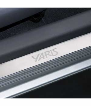 Toyota Yaris Door Sill Protectors 2006-2011 Stainless Steel Front Pair Genuine Toyota #PTS21-52061