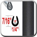 """""""U"""" Style Black (Flat) Car Door Guards Sold by the Foot, Cowles® # 39-401-01"""
