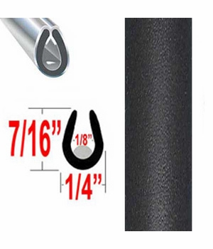 """""""U"""" Style Black (Flat) Car Door Guards Sold by the Foot, Cowles® # 39-401"""