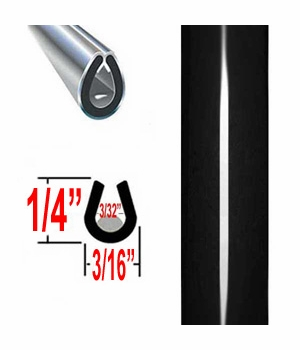 """""""U"""" Style Black (Gloss) Car Door Guards ( PK04 ), Sold by the Foot, Cowles® # 39-301-04"""