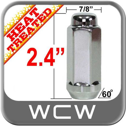 "West Coast Wheel® 9/16"" x 18 Chrome Lug Nuts Tapered (60°) Seat Right Hand Thread Chrome Sold Individually #W7896XL"