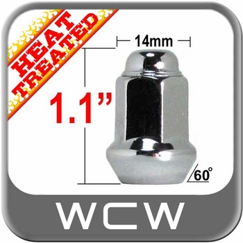 West Coast Wheel® 10mm x 1.25 Chrome Lug Nuts Tapered (60°) Seat Right Hand Thread Chrome Sold Individually #W1010H