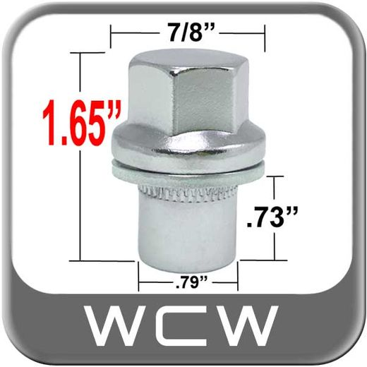 West Coast Wheel® 14mm x 1.5 Range Rover Lug Nut Mag Seat Right Hand Thread Chrome Sold Individually #W6014RS