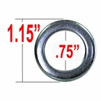 West Coast Wheel® Silver Lug Nut Washer Duplex Mag Round Sold Individually #W773