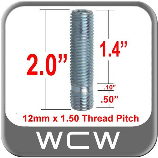 West Coast Wheel® Silver Wheel Stud Open (Female) Sold Individually #198-STUD7-38-XL