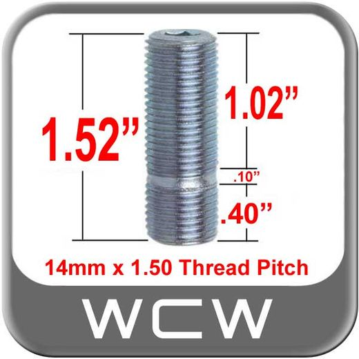 West Coast Wheel® Silver Wheel Stud Open (Female) Sold Individually #198-STUD9-38
