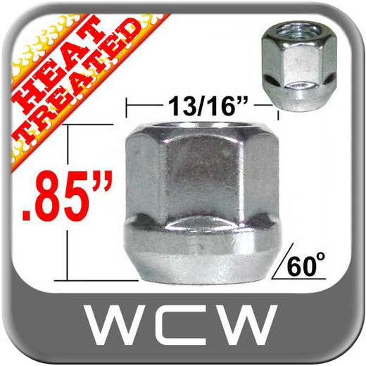 """West Coast Wheel® 9/16"""" x 18 Zinc Lug Nuts Tapered (60°) Seat Right Hand Thread Silver Sold Individually #W1096B"""