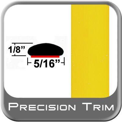"""5/16"""" Wide Yellow Wheel Molding Trim ( PT46 ), Sold by the Foot, Precision Trim® # 24200-46-01"""