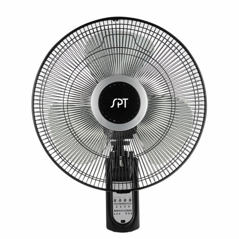 "Sunpentown 16"" Wall Mount Fan with Remote Control"
