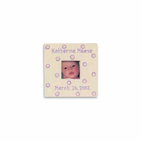 Personalized Baby Dot Dishware - Blossom Pink Frame Free Shipping