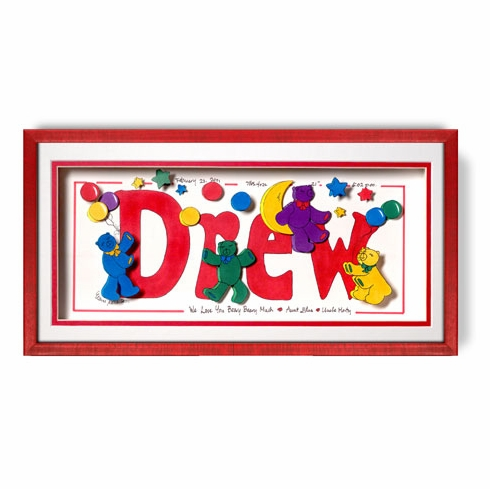 Personalized Teddy Bear Name Frame Free Shipping