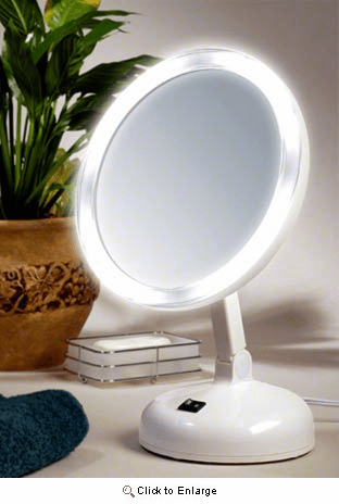 10x Power Daylight Fluorescent Lighted Mirror