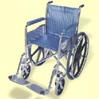 Fixed Arm Wheelchair With Swinging Detachable Footrests