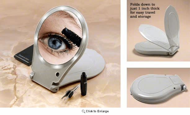 Floxite 10x Lighted Travel And Home Mirror, Floxite 10x Lighted Travel And Home Mirror