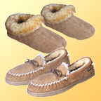 """Genuine Sheepskin Slippers Will Pamper Your Feet with World Class Comfort.<p>Save 50&#37;!<br><font color=""""#FF0033""""><b>Only $49.95!</b></font></p>"""