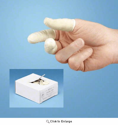 Latex Finger Cots for Ostomy Care
