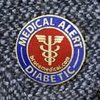 """Now also available: <BR>the """"Diabetic"""" Cloisonn&#233; Medical Alert Pin"""