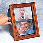 """Rotating Picture Frame Let's You Flip Through Treasured Memories With Family And Friends.<P>Save 66&#37;!<BR><FONT COLOR=""""#FF0033""""><B>Only $9.95!</B></FONT></P>"""