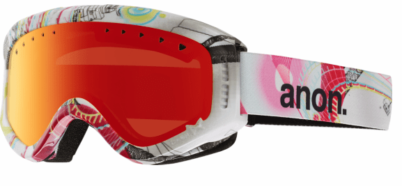 Anon Optic Tracker Snow Goggles<br>burst/Red Amber