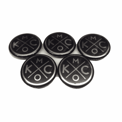 BunkerMade Kansas City Pins 5-Pack<br>Black/Silver