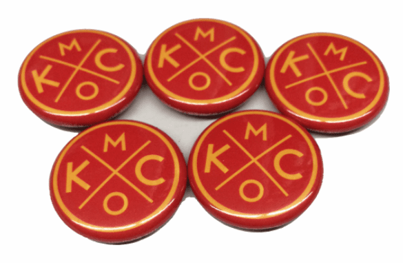 BunkerMade Kansas City Pins 5-Pack<br>Red/Yellow