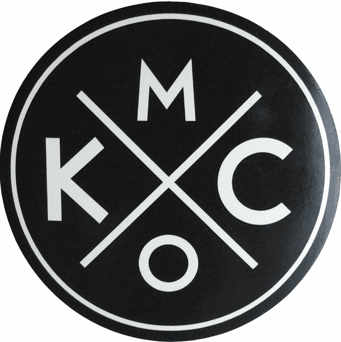 BunkerMade Kansas City Sticker<br>Black/White
