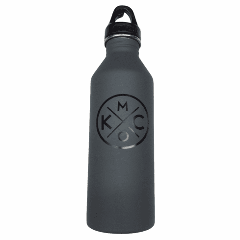 BunkerMade Kansas City Water Bottles<br>Grey/Black