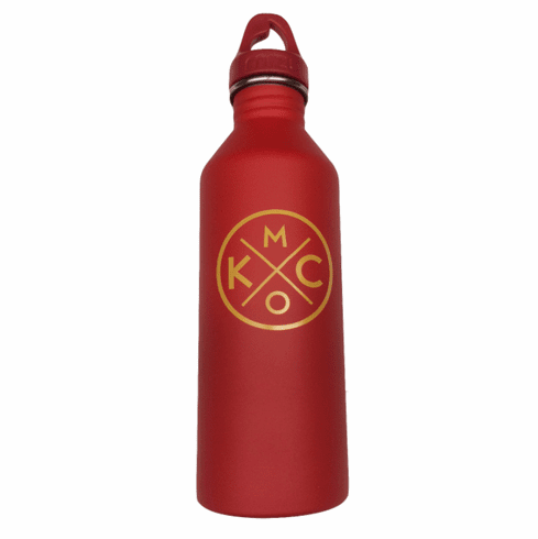 BunkerMade Kansas City Water Bottles<br>Red/Yellow