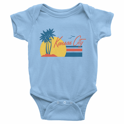 Bunkermade KCMO Infant Onesie<br>Kansas City Sunset