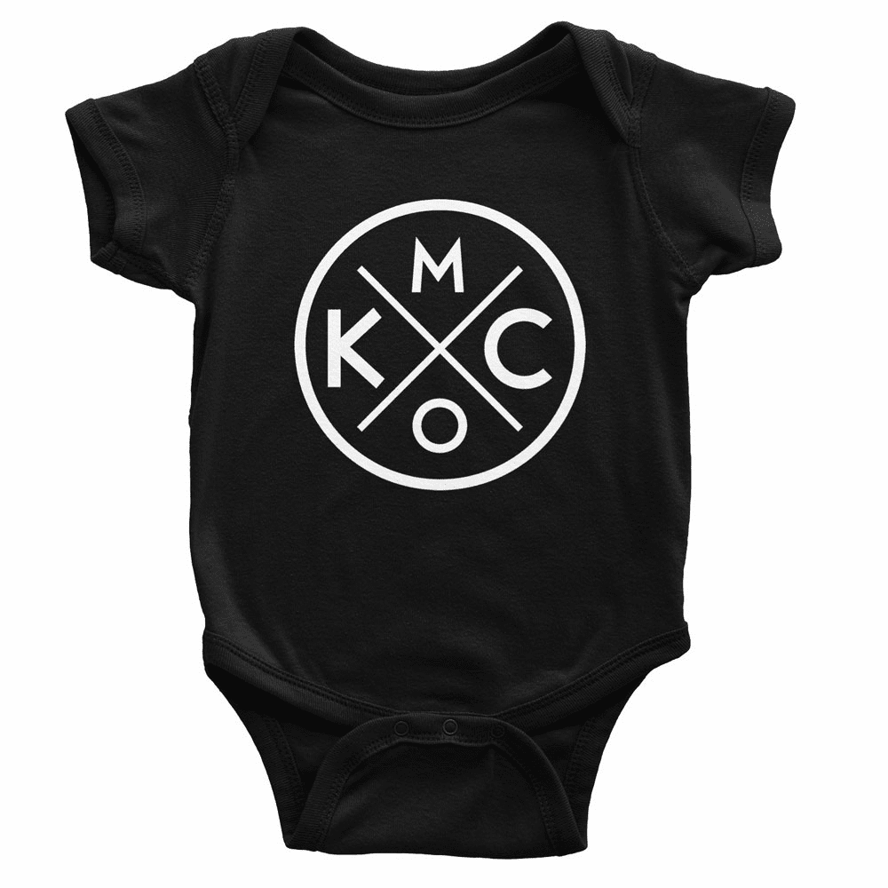 Bunkermade KCMO Infant Onesies<br>Black