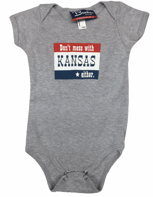 Bunkermade KCMO Infant Onesies<br>Don't Mess With Kansas